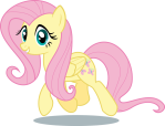 Fluttershy_Trotting,_Staring_at_You
